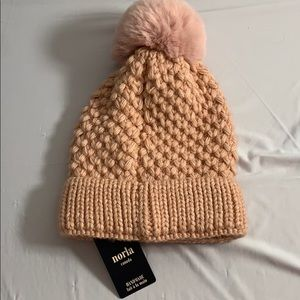 Gorgeous Pink Wool Knit Toque with Pom Pom